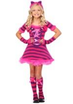 Girls Sassy Wonderland Cat Costume