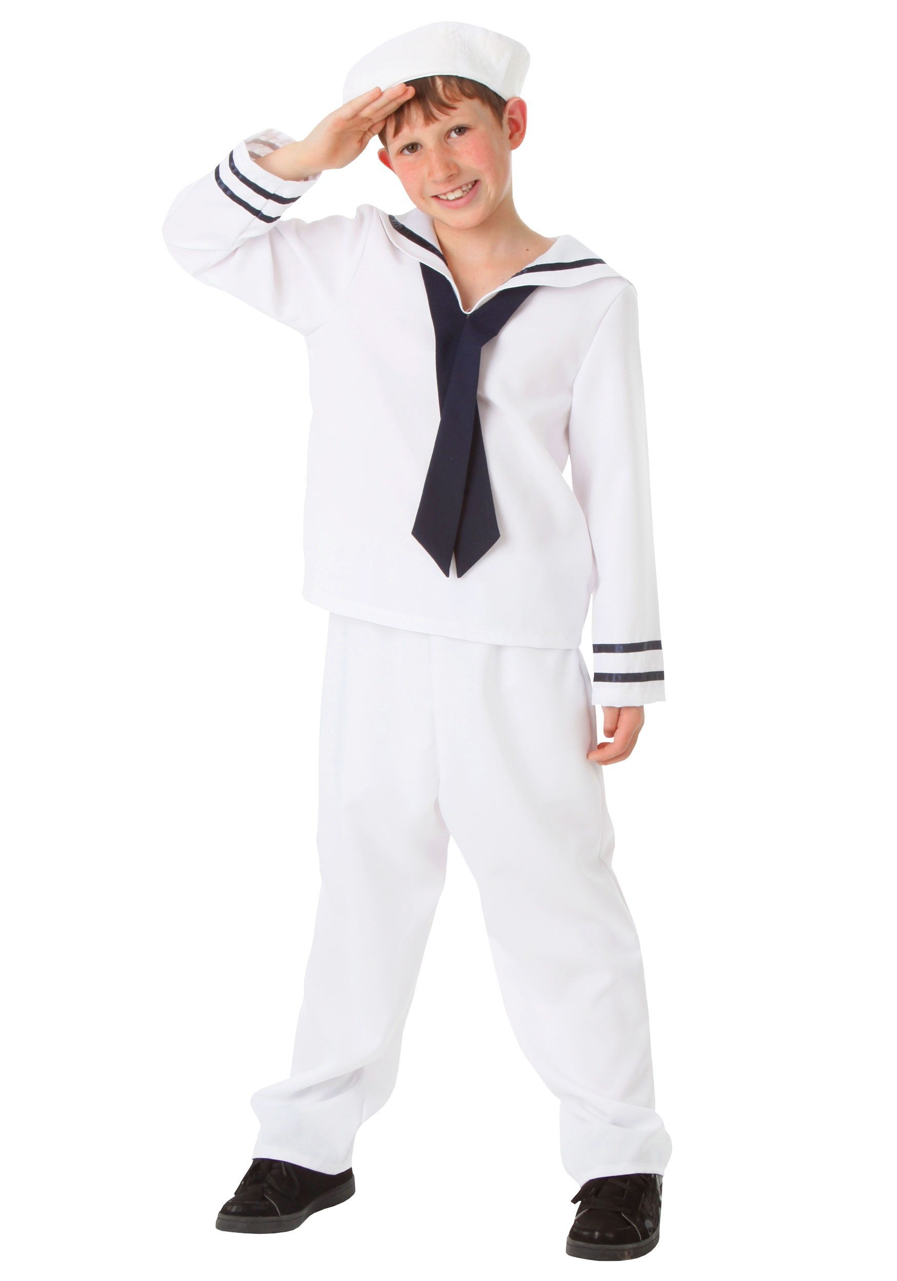 Boys White Sailor Costume  sc 1 st  Halloween Costume : boy referee costume  - Germanpascual.Com