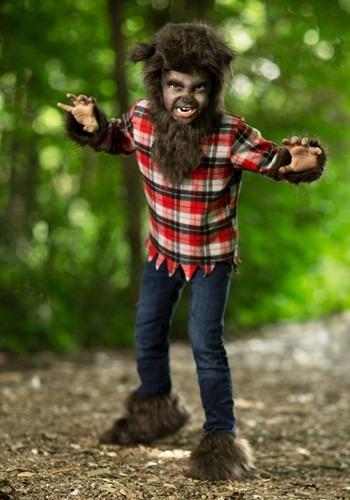 Kids Furry Werewolf Costume