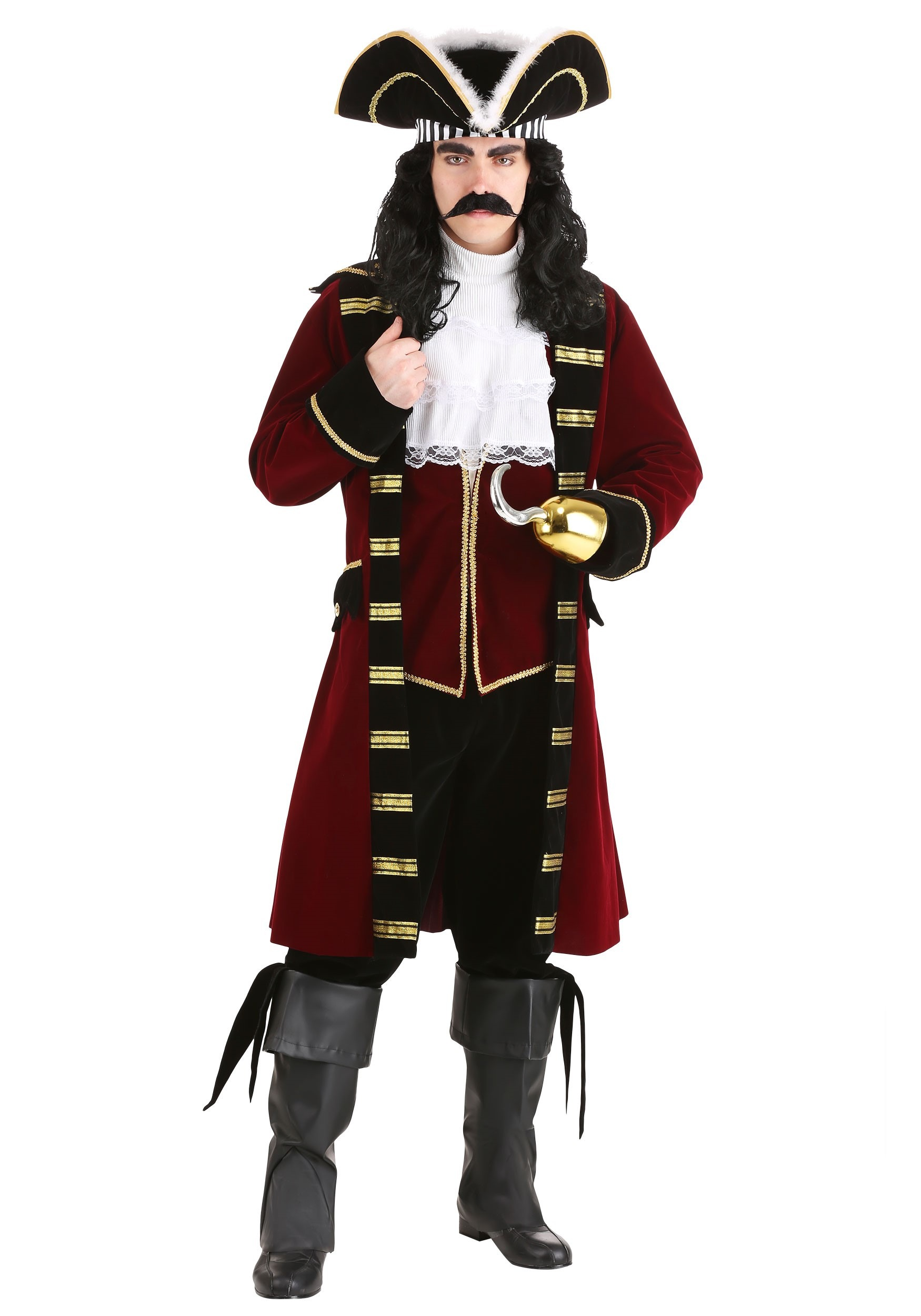 Captain Hook Deluxe Costume - Adult Captain Hook Disney Costumes 66f15fdef157