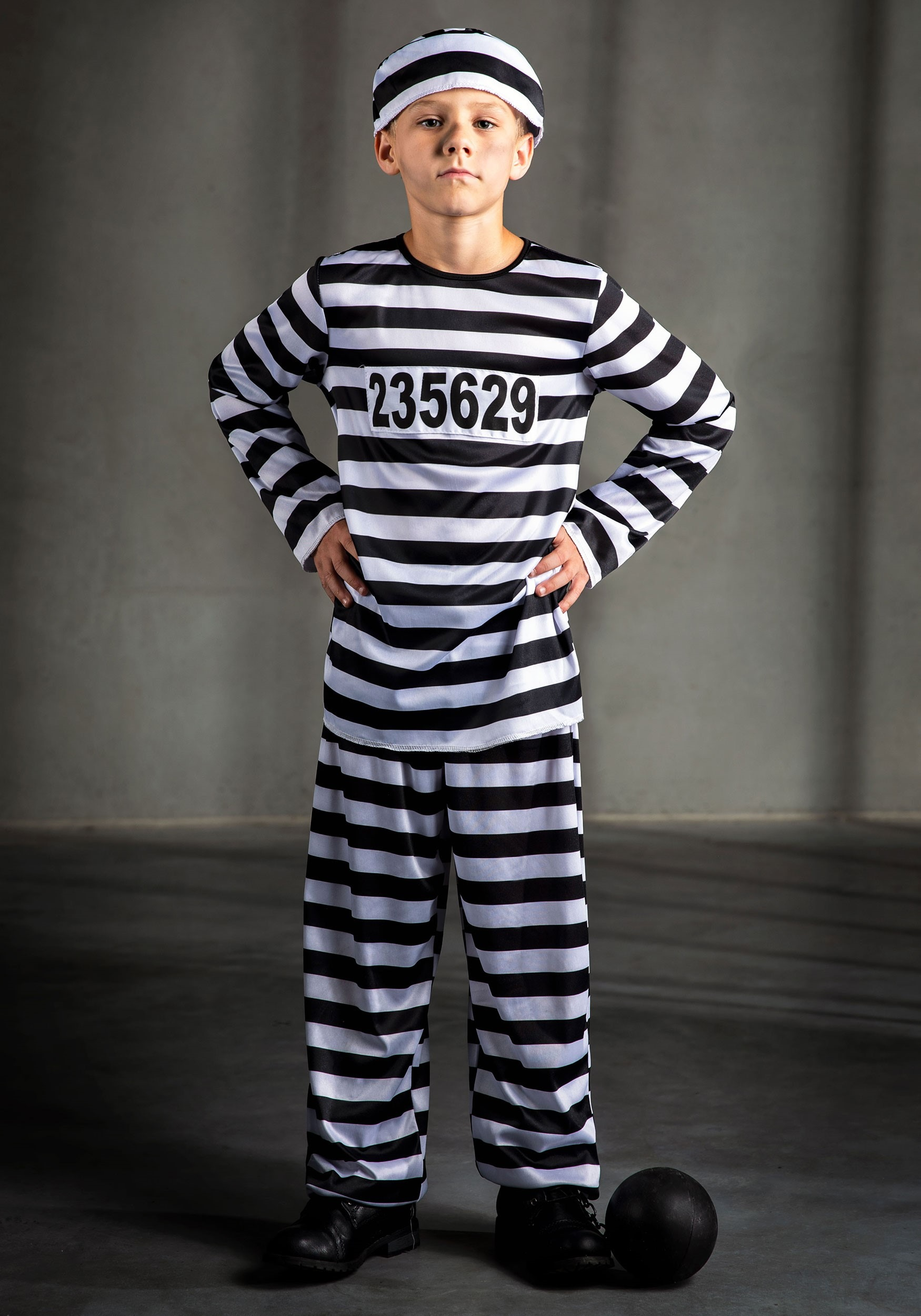 Prisoner on the Loose Costume  sc 1 st  Halloween Costume & Prisoner on the Loose Costume - Childrens Robber Costume