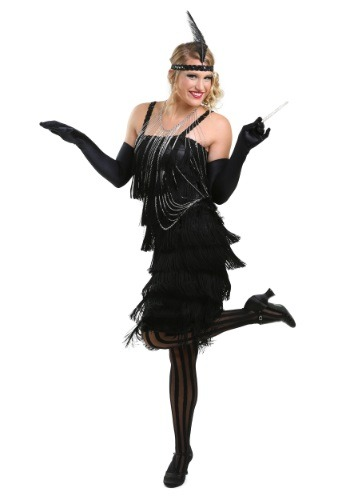 Charleston Black Flapper Dress