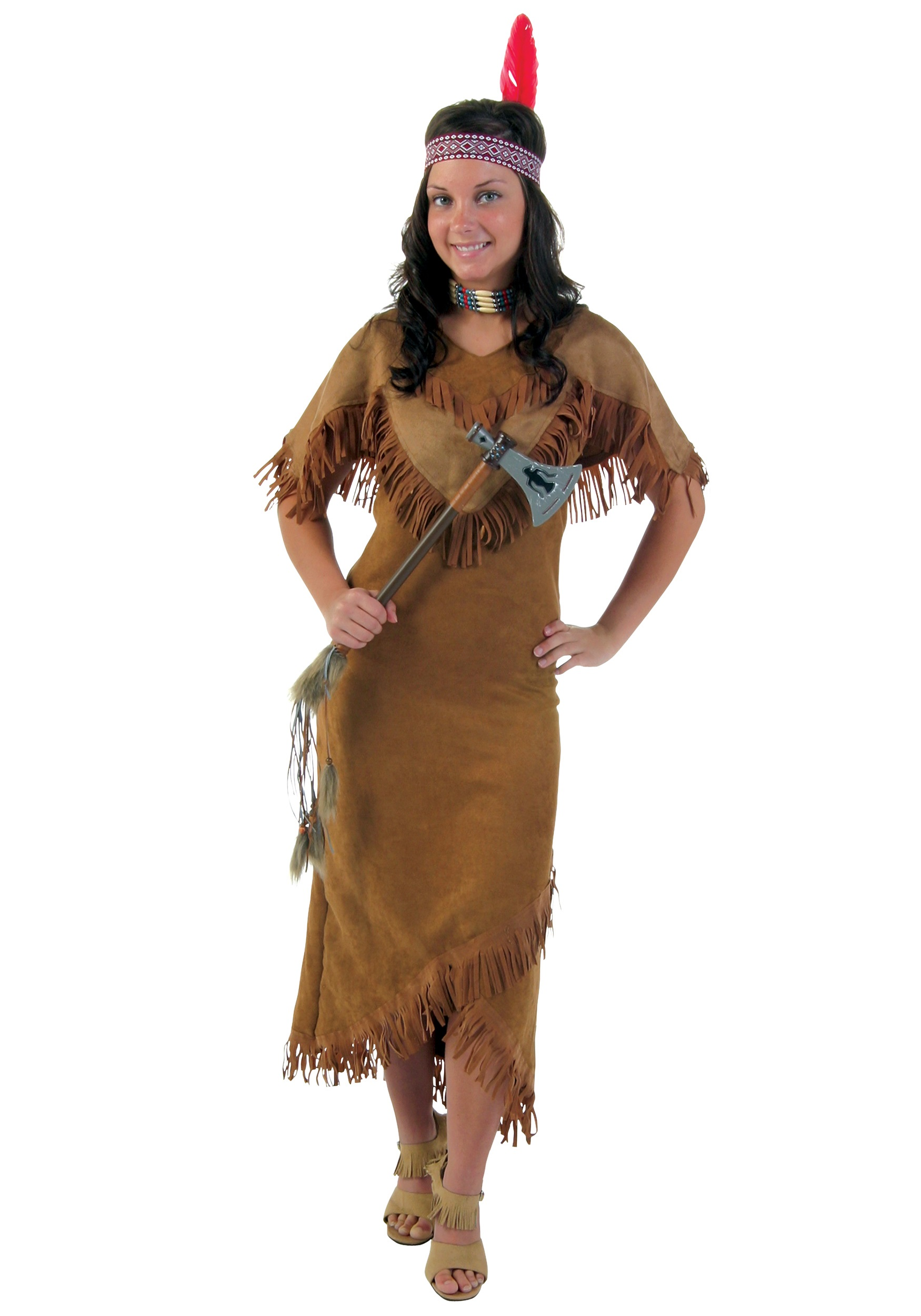 Womens Indian Costume Deluxe  sc 1 st  Halloween Costume & Womenu0027s Deluxe Indian Costume - Adult Female Native American Costumes