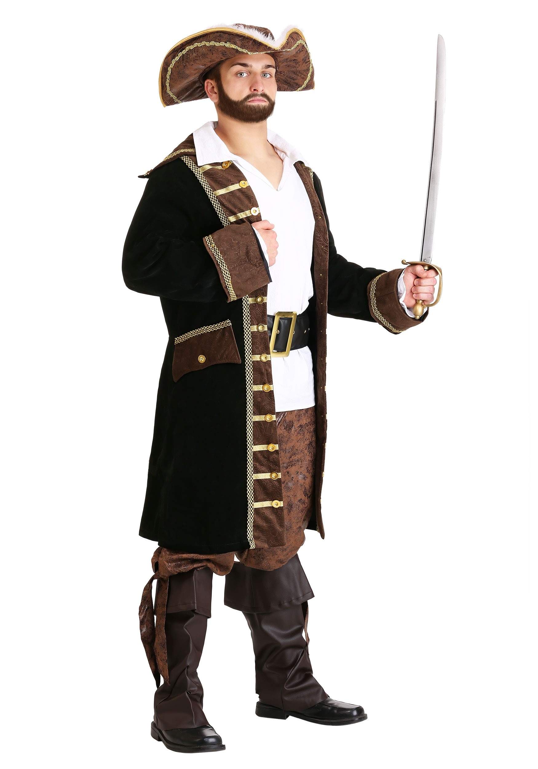 Mens Pirate Captain Costume  sc 1 st  Halloween Costume & Mens Pirate Captain Costume - Adult Halloween Pirate Costumes