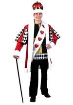 Deluxe Men's King of Hearts Costume