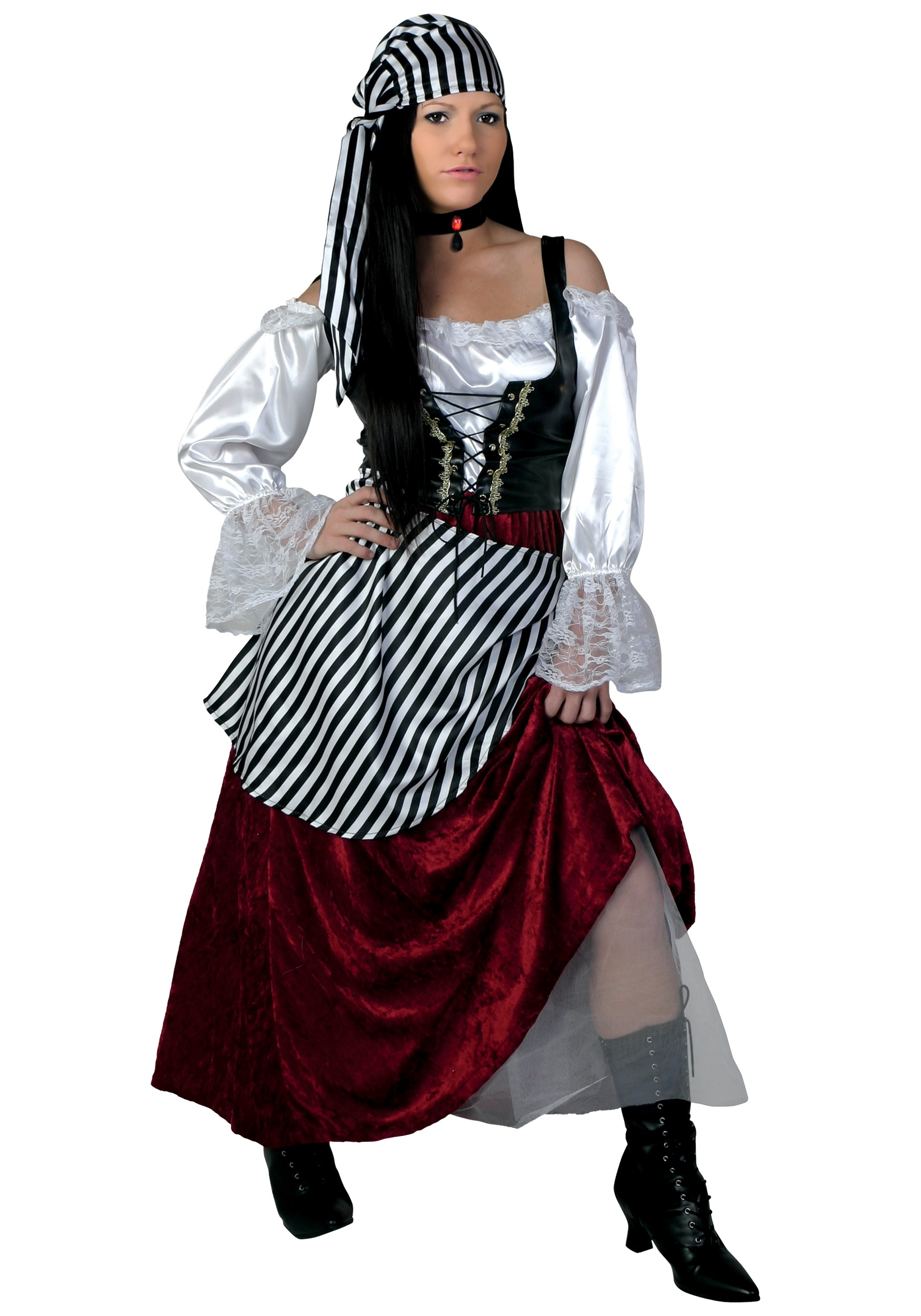 Frisky Pirate Wench Costume  sc 1 st  Halloween Costume & Deluxe Pirate Wench Costume - Halloween Pirate Costumes for Women