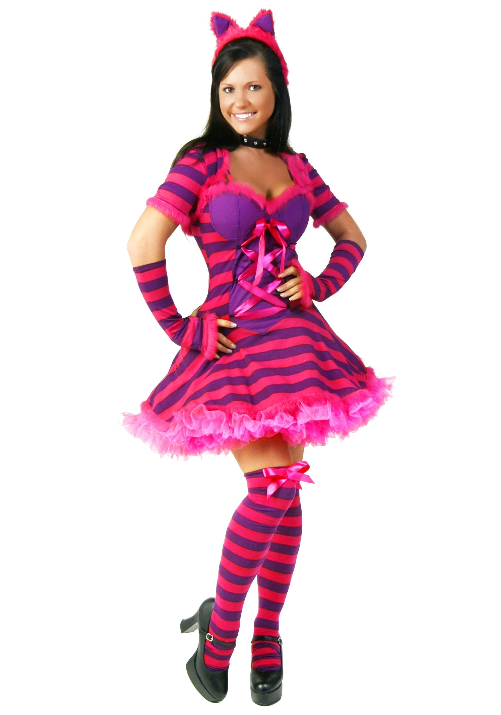 womens wonderland cat costume