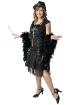 Swanky Black Flapper Costume
