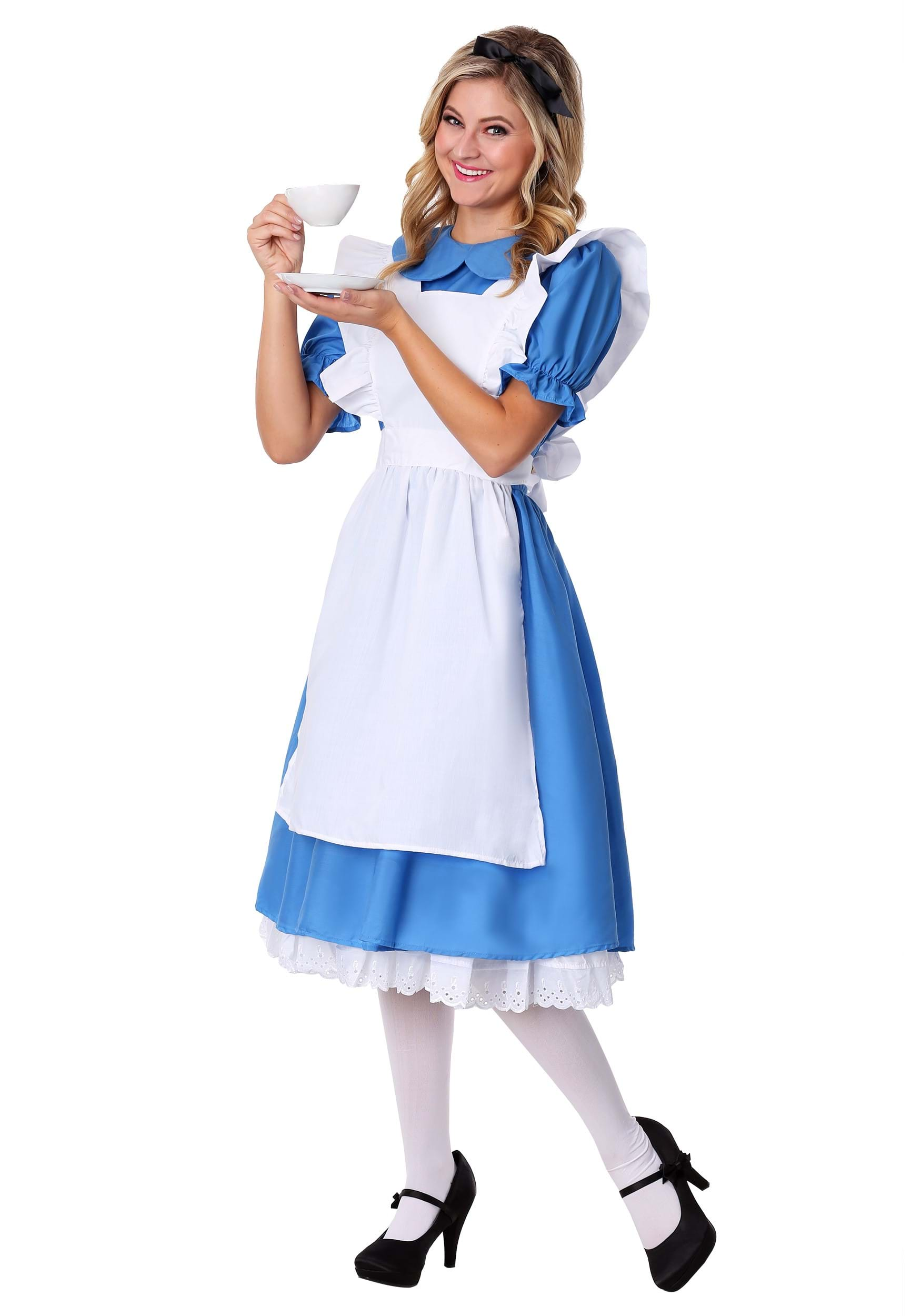 wonderland Alice adult costume in