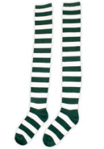 Green and White St. Patrick's Day Socks