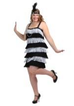 Plus Size Jazz Time Flapper Costume