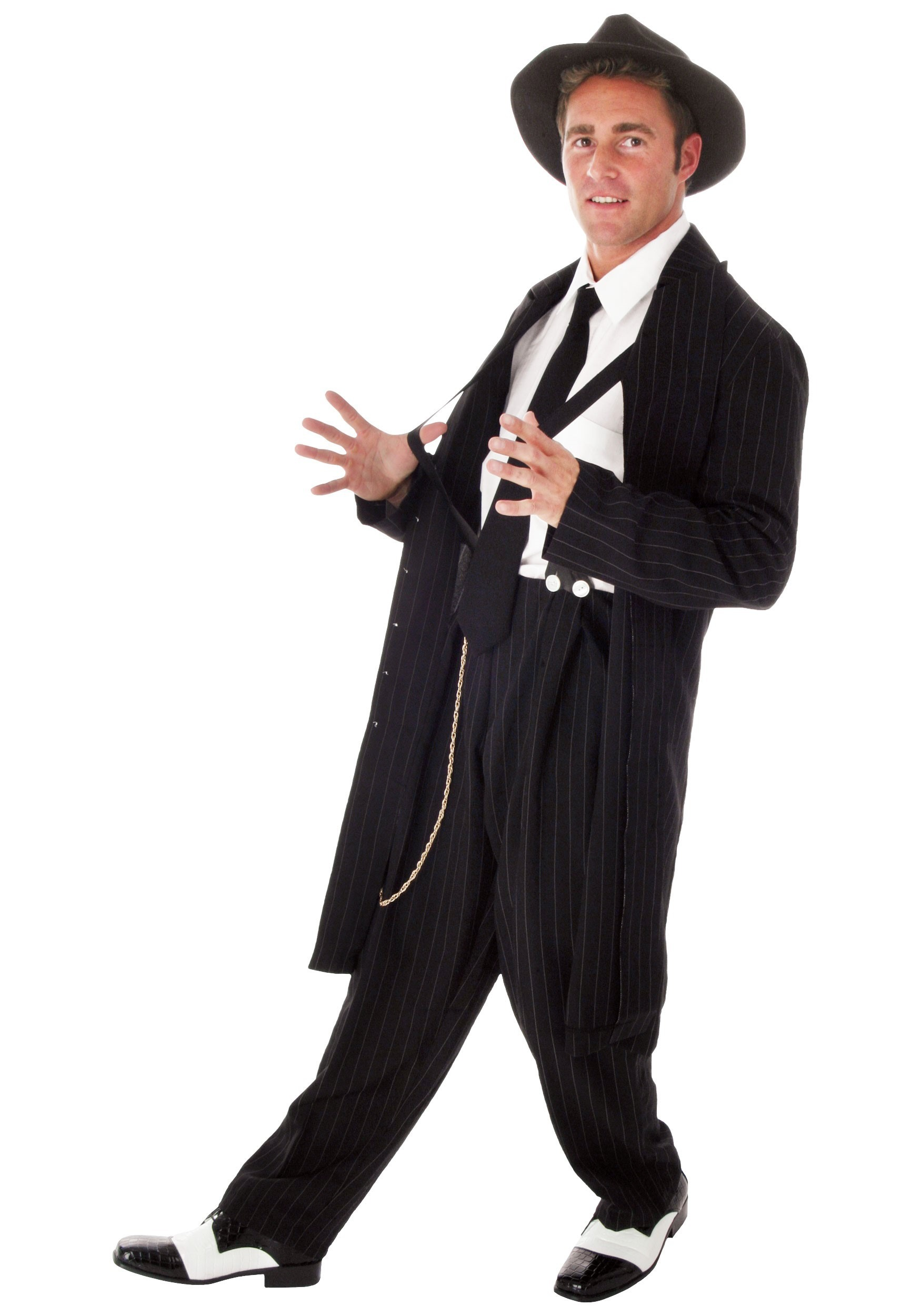 81ad75baed6d4 Black Plus Size Zoot Suit - Mens 1920s Gangster Suits and Costumes 2X 3X 4X