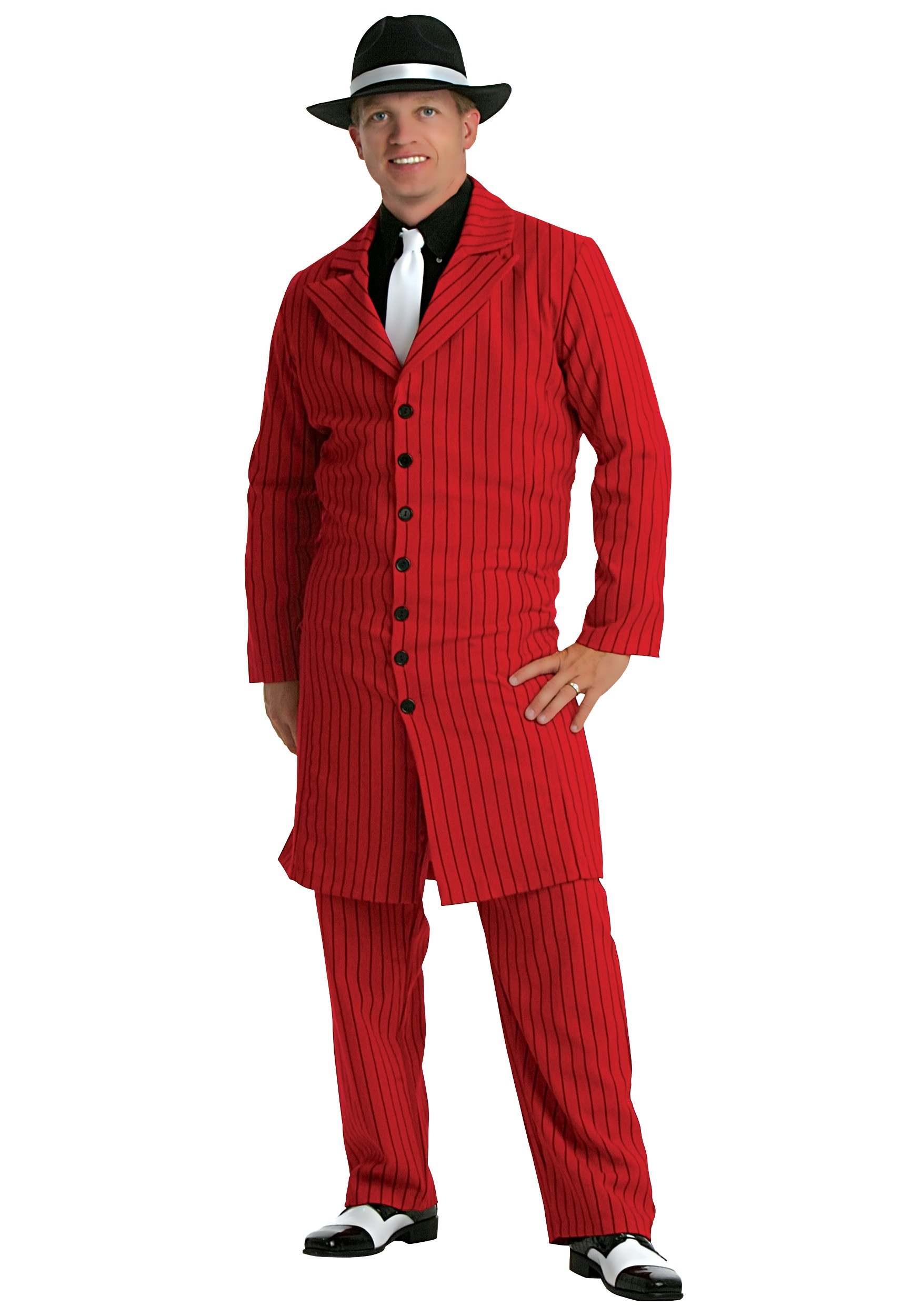 ca50ef3ffc4 Red Plus Size Zoot Suit - Adult 1920s Gangster Costumes