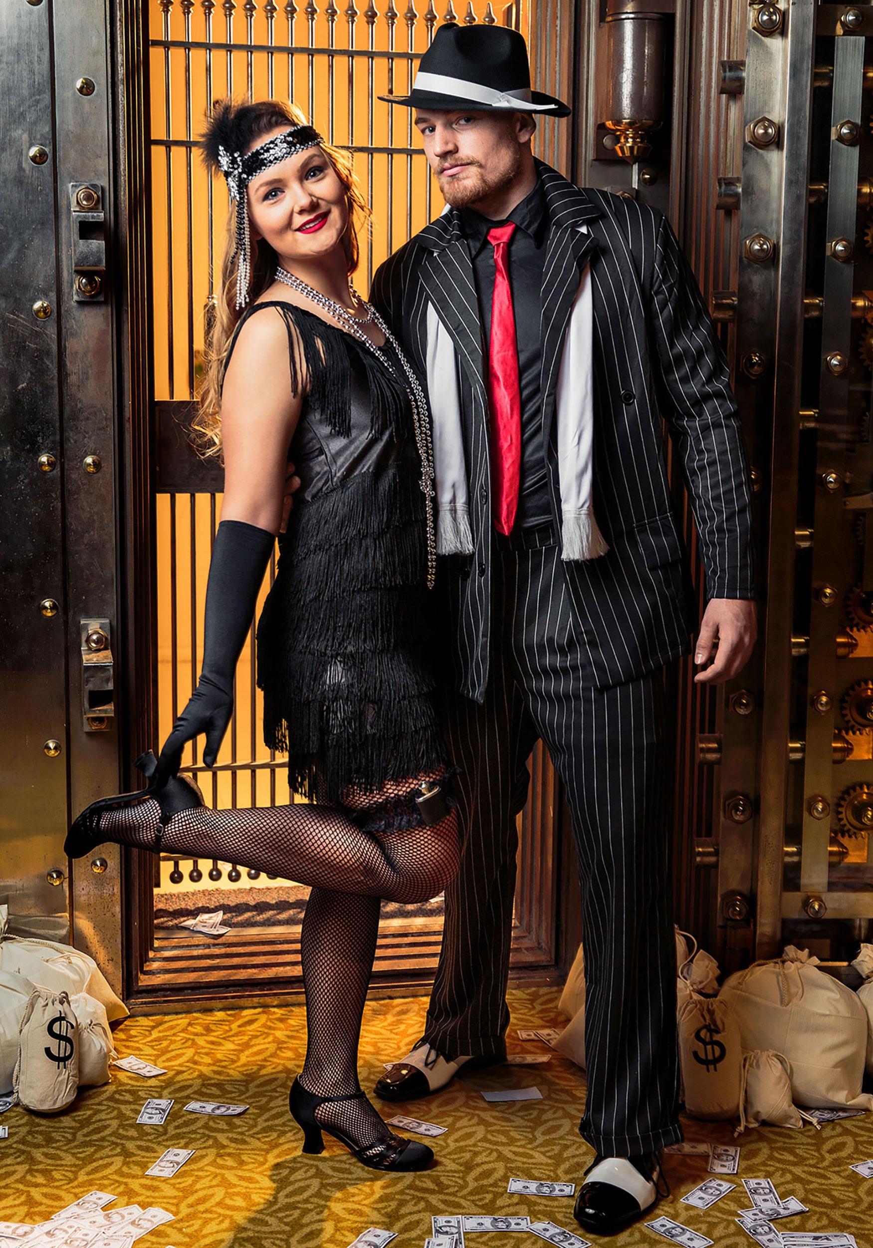 Plus Size 1920s Flapper Costume - Womens Vintage Fringe Flapper Dress