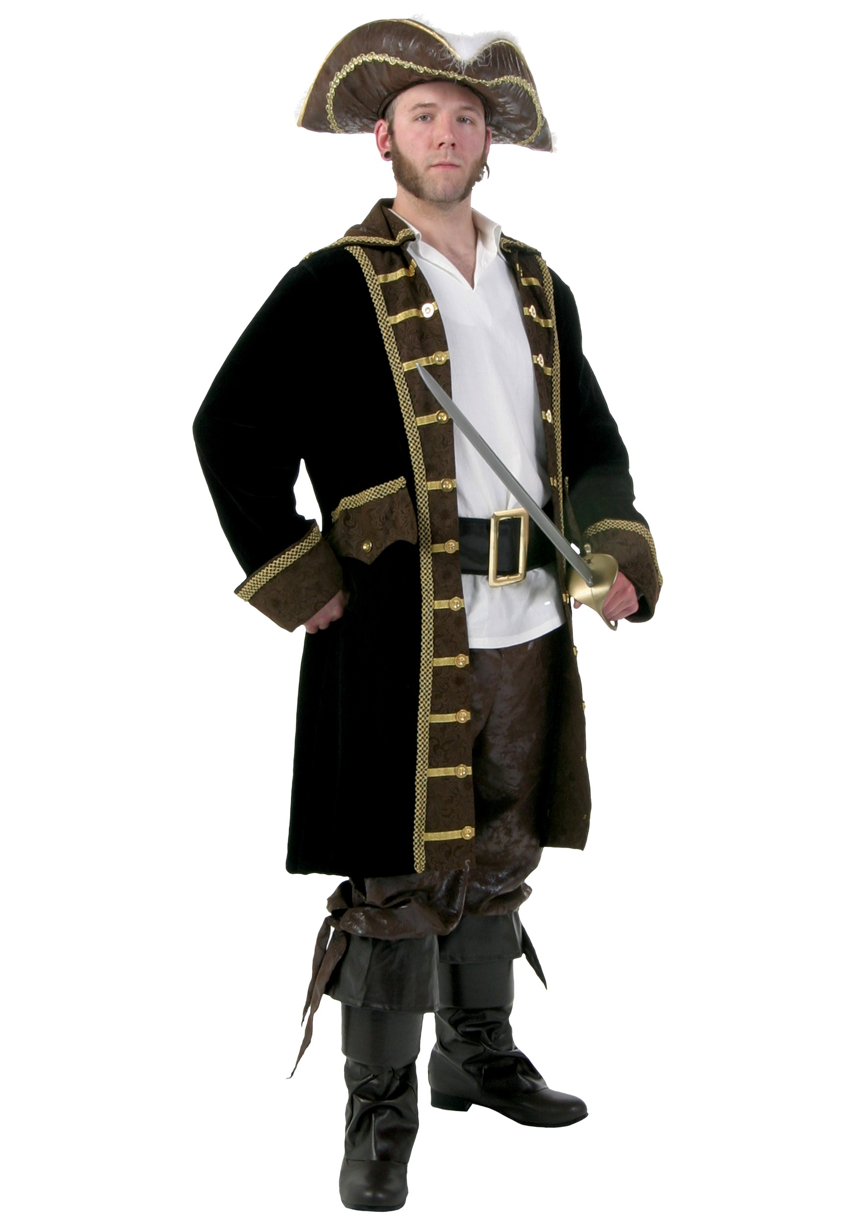 Plus Size Pirate Costume  sc 1 st  Halloween Costume & Mens Plus Size Pirate Costume - Plus Size Pirate Halloween Costumes