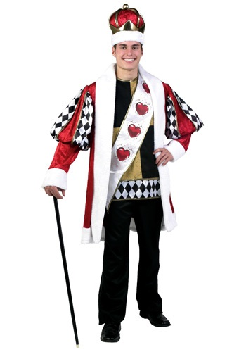 Deluxe Plus Size King of Hearts Costume