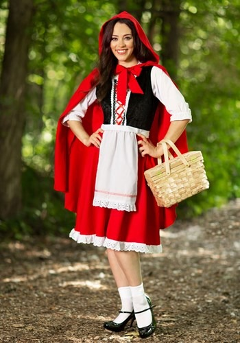 Exclusive Plus-Sized Red Riding Hood Costume