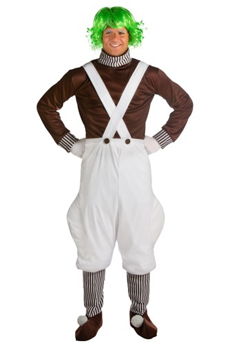 Plus Willy Wonka Worker Costume