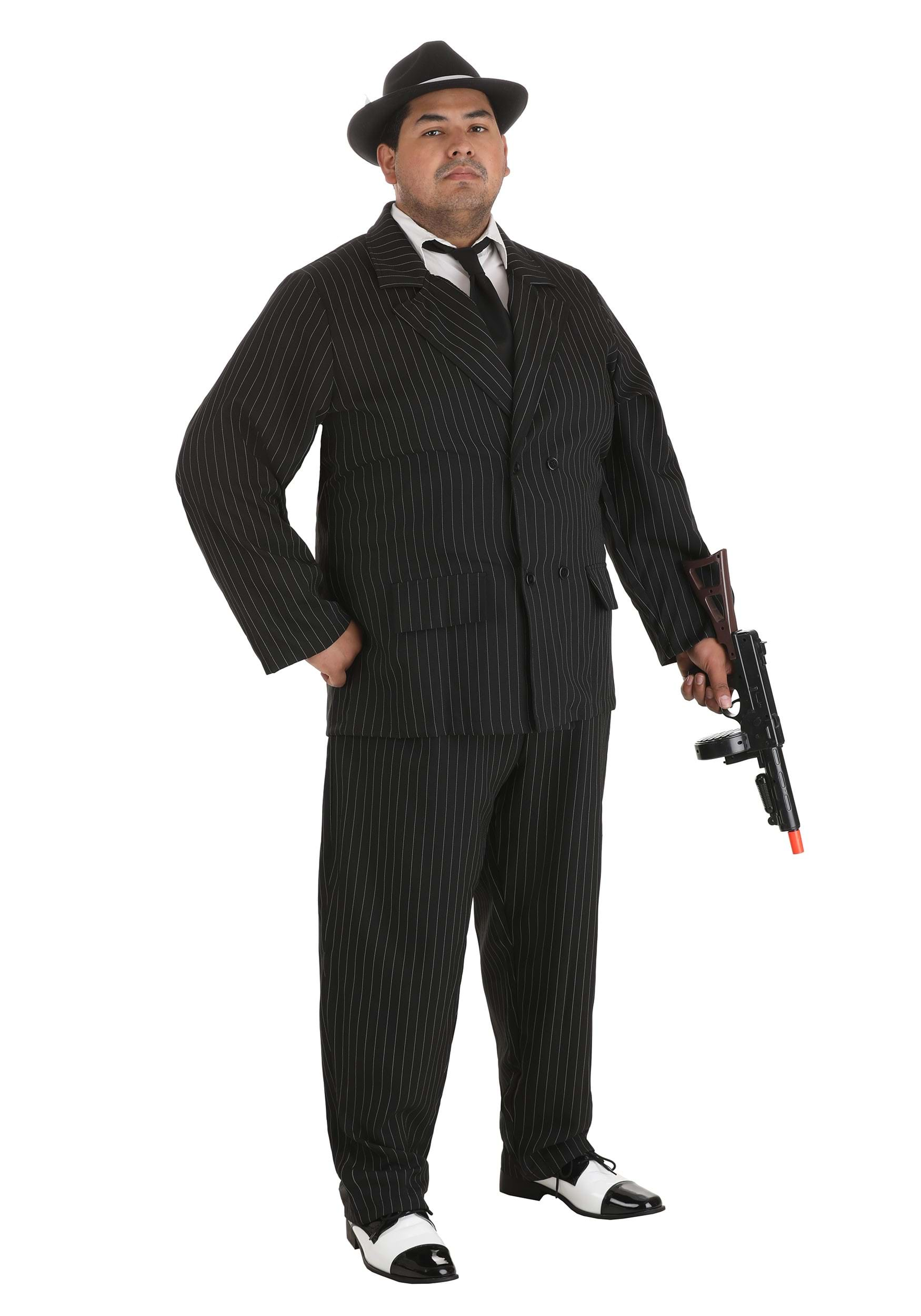 plus size gangster suit - plus size 20s gangster halloween costumes