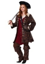 Plus Size Womens Caribbean Captain Costume