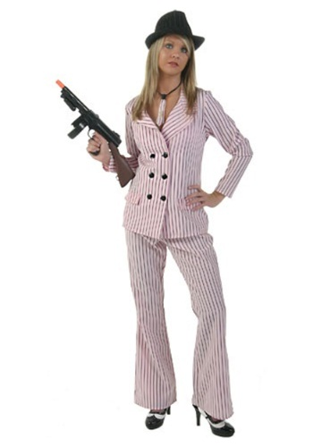 Pink Gangster Moll Plus Size Costume