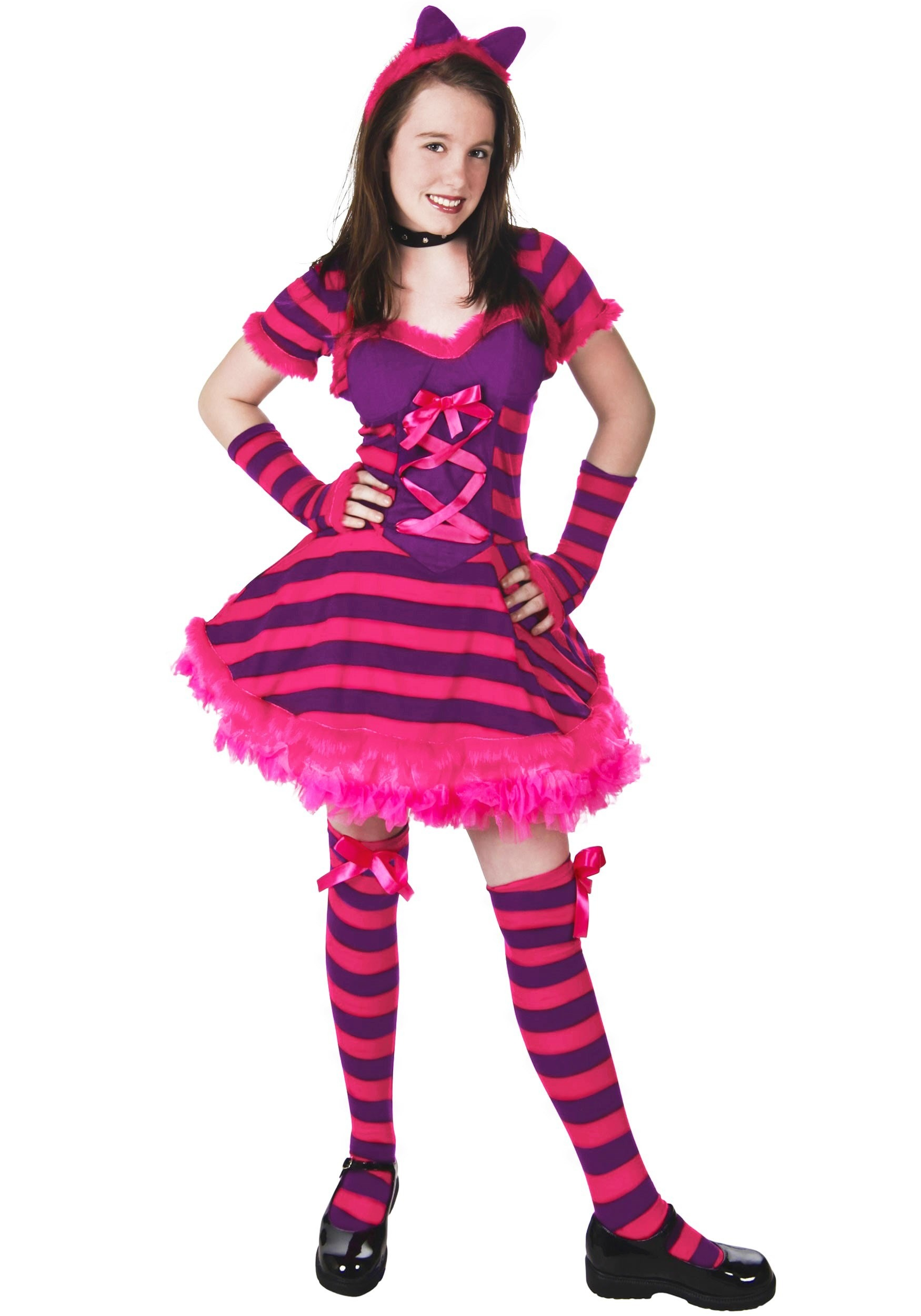Teen Alice in Wonderland Cat Costume  sc 1 st  Halloween Costume : chechire cat costume  - Germanpascual.Com