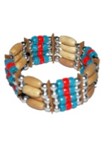 Tribal Indian Beaded Bracelet