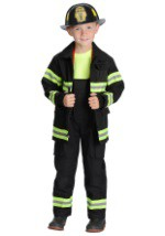 Kids Black Firefighter Costume