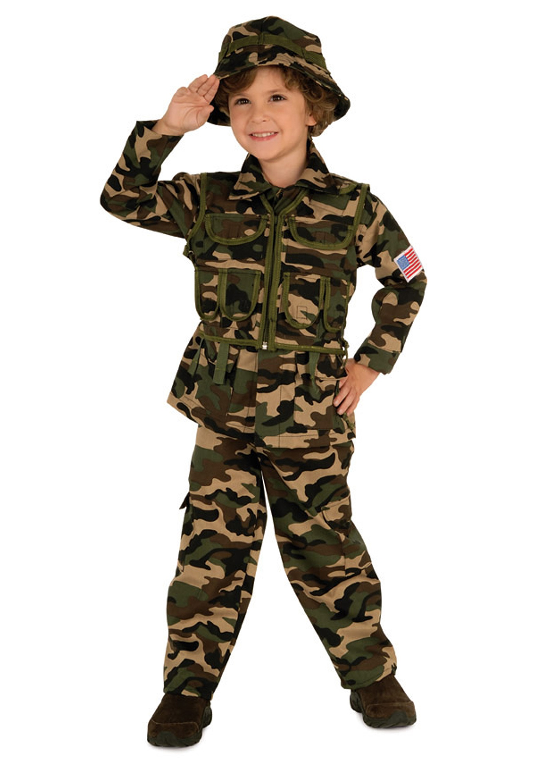 Child Army Costume  sc 1 st  Halloween Costume & Child Army Costume - Kids Soldier Halloween Army Costumes