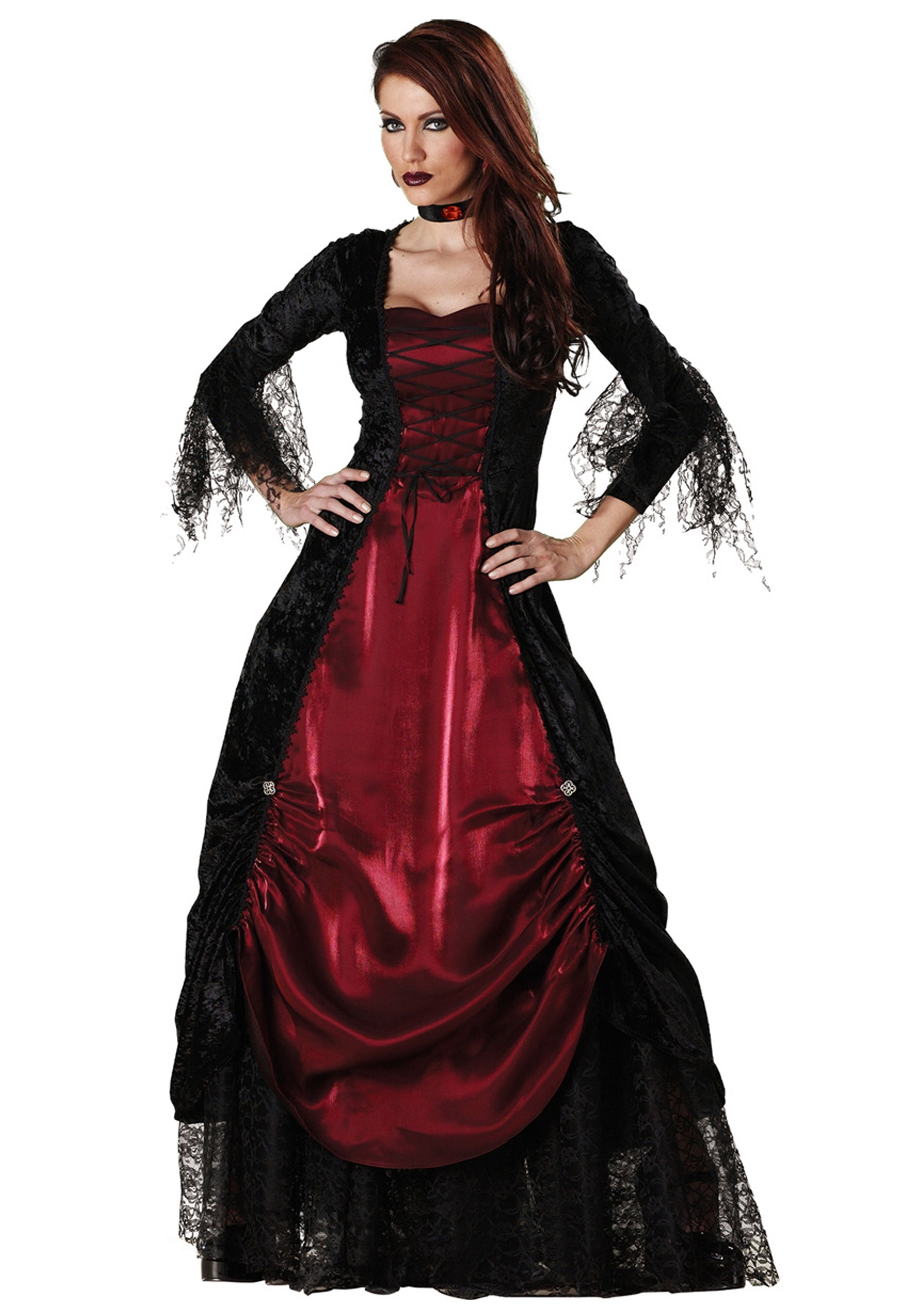 deluxe women 39 s vampire costume womens halloween vampire. Black Bedroom Furniture Sets. Home Design Ideas