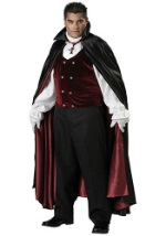 Mens Plus Size Vampire Costume