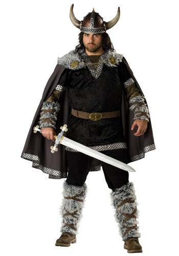Mens Viking Warrior Plus Costume