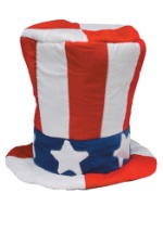 Velvet Stars and Stripes Top Hat