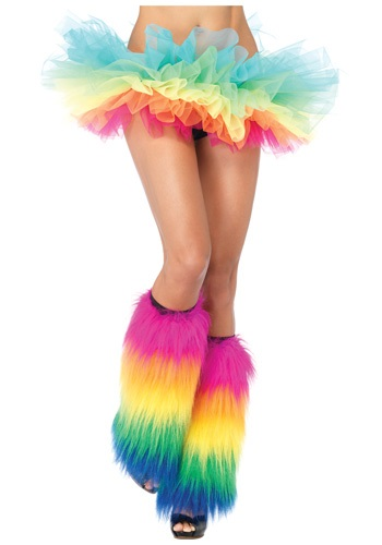 Fuzzy Colorful Leg Warmers