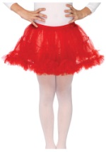 Kids Red Frilly Petticoat