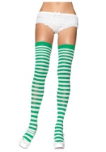 Green and White Stockings
