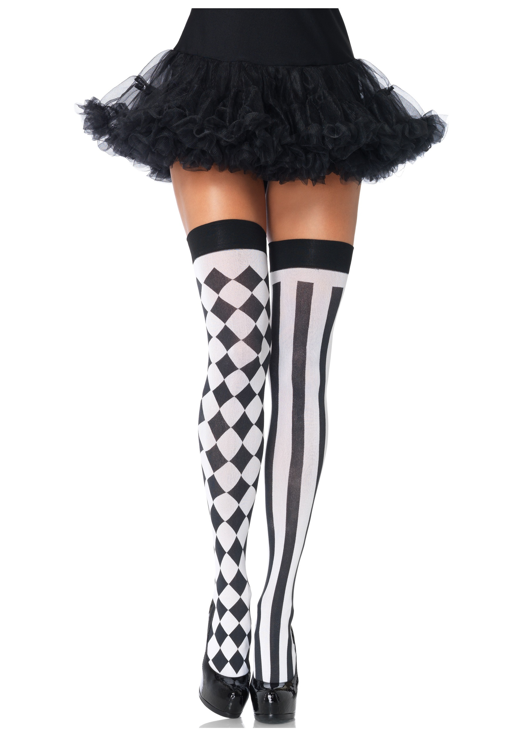 b274d1d69 Harlequin Thigh High Stockings - Sexy Harlequin Costume Accessory