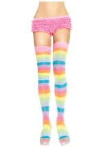 Striped Rainbow Thigh Highs