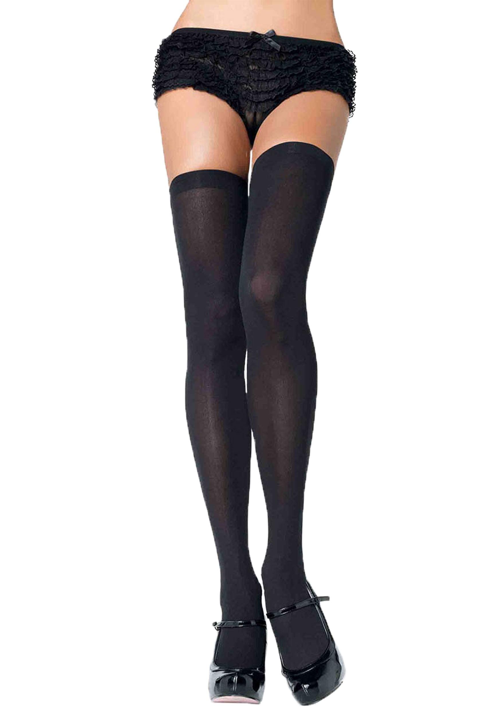 Black Thigh Length Stockings - Nylon Stockings 805534c8d2