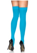 Neon Blue Thigh High Tights