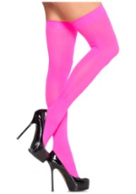 Ladies Hot Pink Thigh High Tights