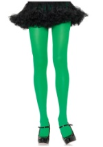 Adult Kelly Green Nylon Tights