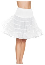 White Knee-Length Petticoat