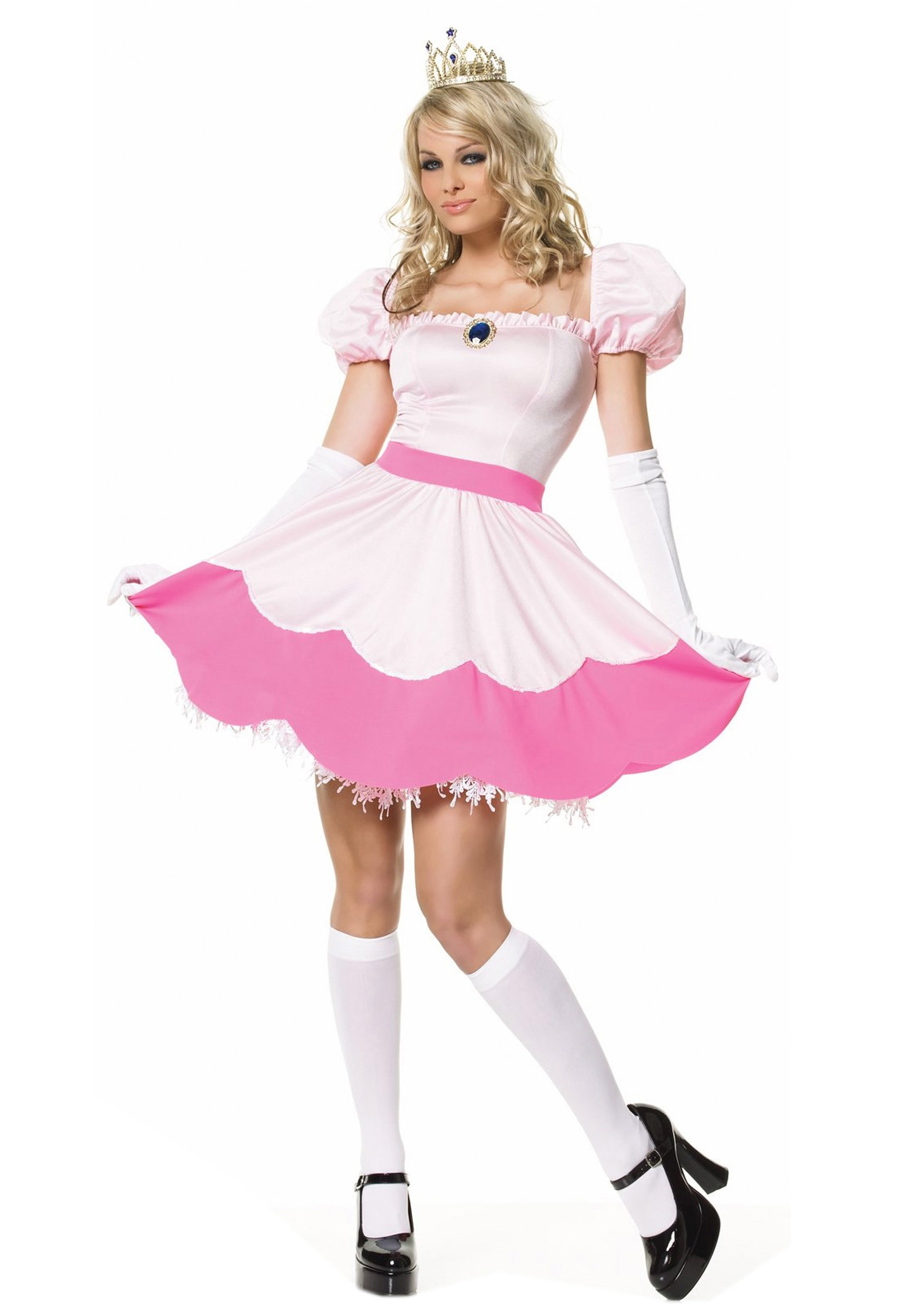 Sexy Princess Costume  sc 1 st  Halloween Costume & Sexy Princess Costume - Princess Peach Costume