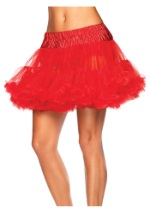 Plus Size Red Tulle Petticoat Slip