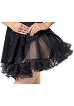 Black Petticoat with Lace
