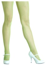 Lime Green Fishnet Tights