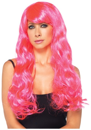 Neon Pink Luscious Wig