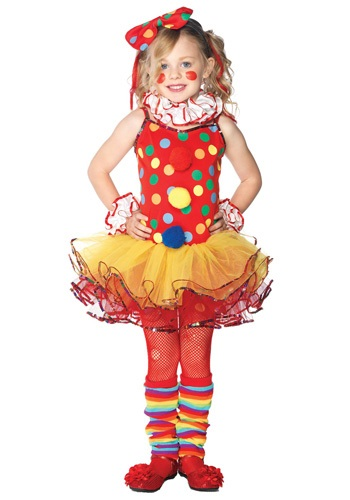 Girls Clown Tutu Costume