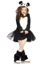 Girls Amanda Panda Costume